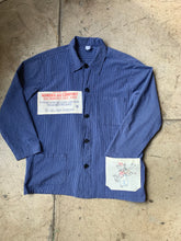 Load image into Gallery viewer, Fiddlin' Kitty Railroad Stripe Workwear Long Sleeve Button Up
