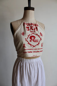 Vintage Rice Sack Halter Blouse by 3 Women