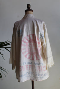 Vintage Rice Sack Sun Typography Jacket