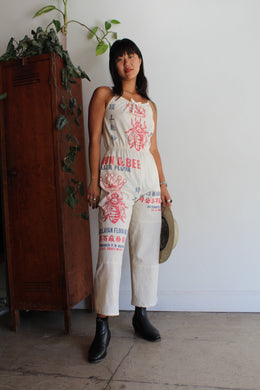 Queen Bee Flour Sack Jumpsuit by 3 Women