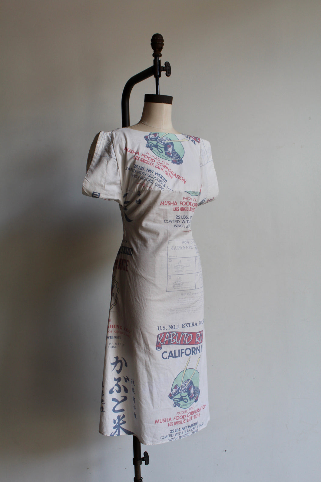 1950s-Inspired Rice Bag Dress with Pagoda Sleeves + Open Back by 3 Women