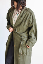 Load image into Gallery viewer, 1980s Army Green Cotton Trench Coat with Lace Up Back