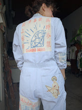 Load image into Gallery viewer, Diamond Flour Sack Patchwork Coveralls