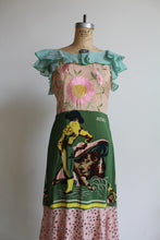 Load image into Gallery viewer, 1930s-Style Old Mexico Mixed Fabric Scarf Dress by 3 Women (Green)