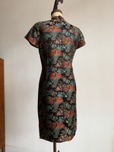 Load image into Gallery viewer, 1960s Brocade Village Scene Cheongsam Dress