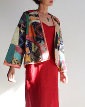 Load image into Gallery viewer, 1930s Crazy Quilt Patchwork Jacket with Multicolored Hand Embroidery