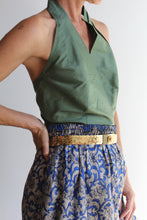 Load image into Gallery viewer, Vintage Reversible Indian Silk Gaucho Shorts
