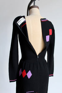 1970s Adolfo Sweater Dress