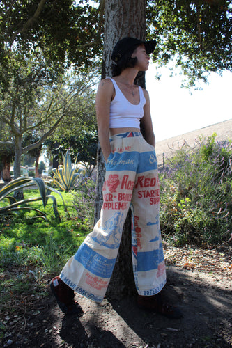 Roses Red Master Mix Feedsack Pants
