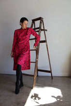 Load image into Gallery viewer, 1980s Hot Pink Pop Art Ao-Dai Tunic Dress