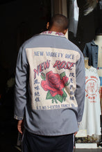Load image into Gallery viewer, New Rose Rice Sack Blue Grey Long Sleeve Button-Up