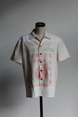 Malayan Roses Flour Sack Button-up
