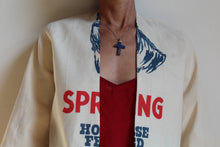 Load image into Gallery viewer, 1930s Style Spring Horse Feed Cropped Cotton Jacket