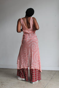 90s Pink Silk Slip Dress