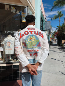 Lotus Flower Rice Sack Work Shirt