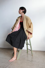 Load image into Gallery viewer, Vintage Burlap Rice Sack Jacket with Pink Silk Lining