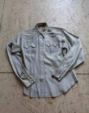 Load image into Gallery viewer, 1950s Silver Western Pearl Snap Button Up
