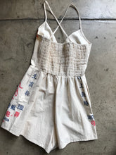 Load image into Gallery viewer, Queen Bee Flour Bag Romper
