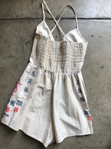 Queen Bee Flour Bag Romper