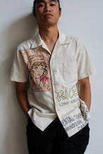 Load image into Gallery viewer, Unisex Vintage Dragon Rice Sack + 1920s Flapper Girl Embroidered Button Up by 3 Women