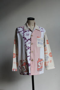 Lay or Bust Pastel Feed Sack Work Shirt