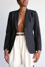 Load image into Gallery viewer, DKNY Gray Wool Pinstripe Fitted Blazer