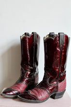 Load image into Gallery viewer, Tony Lama Burgundy Patent Leather Cowgirl Boots