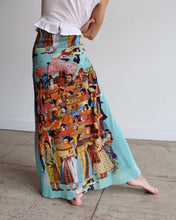 Load image into Gallery viewer, 1990s Jean Paul Gaultier Cultural Diversity Fuzzi Mesh Maxi Skirt