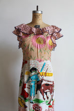 Load image into Gallery viewer, 1930s Style Old Mexico Pink Mixed Fabric Scarf Dress