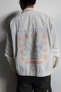 Diamond Patched Zip Up Jacket