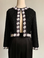 Load image into Gallery viewer, 80s Black Beaded Jacket