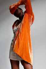 Load image into Gallery viewer, 1930s Orange Silk Velvet Cocoon Coat