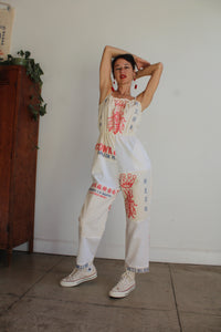 Queen Bee Flour Sack Jumpsuit