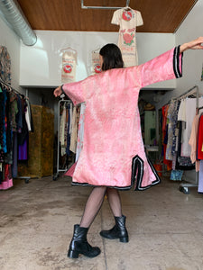 1940s Pink Satin Brocade Chinese Jacket