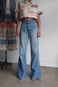 Rare 1970s Light Wash Bell Bottom Jeans