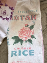Load image into Gallery viewer, 1940s Muted Floral Linen Table Cloth + Botan Rice Pants