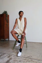 Load image into Gallery viewer, 90s Silk Linen Nude Hued 2-Piece Vest + Shorts