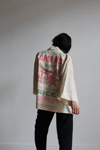 Vintage Japan Rose Rice Sack Jacket