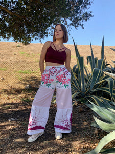 Sakura Desert Flower Rice Sack Pants