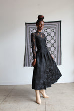 Load image into Gallery viewer, 1980s Romantic Gothic Lace Brocade Gown