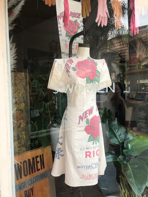 New Rose Rice Sack Dress by 3 Women
