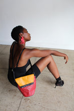 Load image into Gallery viewer, 1980s Colorblock Leather Crossbody Bucket Bag