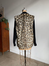 Load image into Gallery viewer, 1960s Leopard Faux Fur Vest