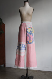 Extra Fancy Pink Rice Sack Pants