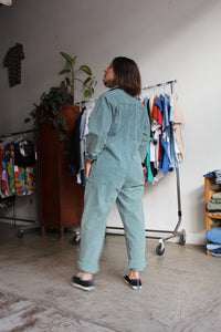 1980s Sage Green Banana Republic Oversized Jumpsuit