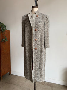 1970s Oatmeal Tweed Wool Coat