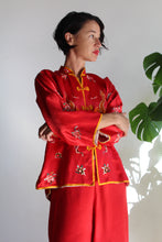 Load image into Gallery viewer, 1920s Red Silk Chinese Embroidered Pajama Set