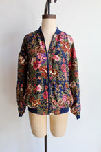 Load image into Gallery viewer, 1990s Tropical Floral Silk Bomber Jacket