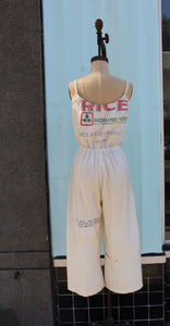Blue Rose Vintage Rice Sack Jumpsuit by 3 Women