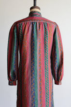 Load image into Gallery viewer, 1970s Paisley Striped Collared Dress
